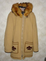 Vintage James Bay Mid length Parka Fox Trim - Virgin Wool