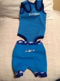 Baby wetsuit & swim shorts size 6-12 months