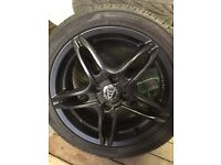 "16"" Wolfrace Matt Black Alloys"