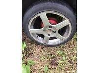 Citroen ford Peugeot alloy wheels rims great tyres !