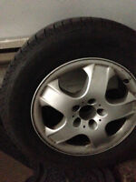 4 MICHELIN X-ICE WINTER TIRES MOUNTED ON MERCEDES ML320 MAGS