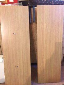 2 wooden floating shelves