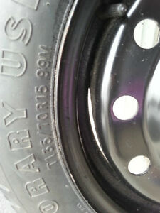 Spare tire with 5 holes rim - T135 /TOR 15 99 M Kitchener / Waterloo Kitchener Area image 5