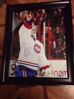 16x20 signed by Carey Price, with COA