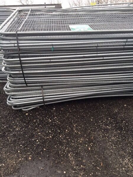 🔨🌟Round Top Brand New Metal Heras Style Fencing