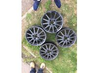 4x Ford Fiesta Zetec S Alloys Genuine Black MK6