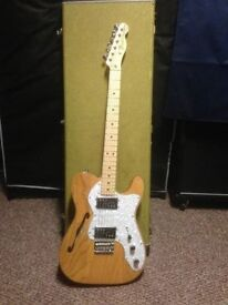Immaculate Fender Thinline Telecaster natural finish with tweed hard case