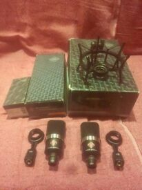2x Neumann TLM102 condenser microphones