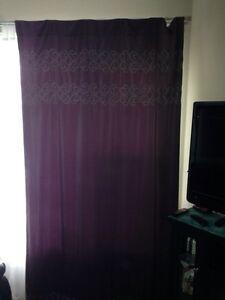 Plum/ purple Curtains. Blackout
