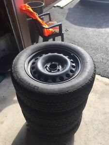 Snow tires with tire cart  Kitchener / Waterloo Kitchener Area image 2