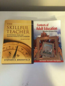 """The Skillful Teacher"" and ""Contexts of Adult Education"" Texts Regina Regina Area image 1"