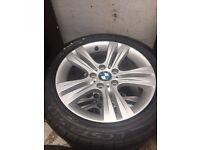 Alloy wheel/tyres