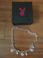 Playboy Choker Necklace with Charms