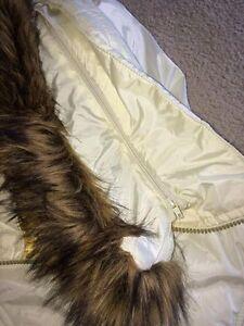 white/gold Baby Phat coat w removable fur Kawartha Lakes Peterborough Area image 5