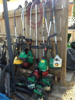 Gas trimmers and blowers- all need work