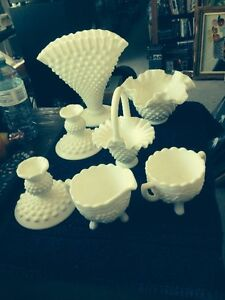 FENTON HOBNAIL AND MILK GLASS Belleville Belleville Area image 1
