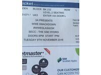 2 X WWE Smackdown tickets, The Hydro