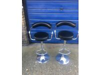 Pair of black kitchen stools on clearance @ just £25