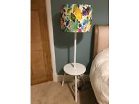 *NEW* Pair of white lamp base/side tables