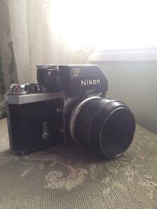 Nikon F 1965 with macro lense Cambridge Kitchener Area image 1