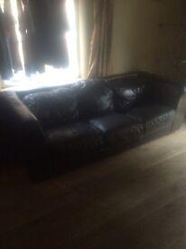 Leather sofa ***free ***