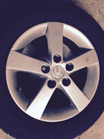 Radial Tires 195/65 R15 with 4 Mazda Mags