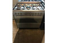 Smeg range gas and electric oven 90cm