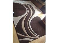 2 brown rug