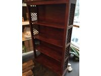 Vintage fretwork bookcase