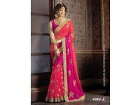 All color New Codding Sari, Bollywood Sari, Asian Wedding Party Wear Sari/ Saree