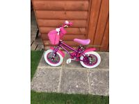 """GIRLS 9"""" bike with bell and basket"""