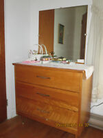 Dresser 3 Drawers/Mirror--Moving Sale