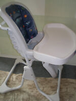 WOW! Chaise haute GRACO, 5 positions, base super stable