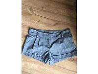 Smart grey shorts size 8