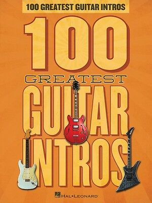 100 Greatest Guitar Intros Sheet Music Guitar Riffs Book NEW 000127533