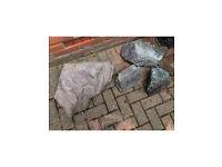 4 large purple slate rocks for Rockery or similar