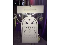 Wedding Pack of 1-12 Table Numbers - new!