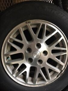 JEEP RIMS AND TIRES / 3 RIMS AND 3 MICHELIN TIRES Peterborough Peterborough Area image 1