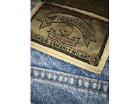 Georgio Armani jeans.