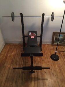 Musculation bench - banc de musculation