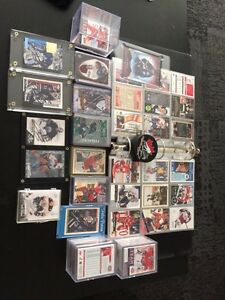 Hockey card collection and signed cards