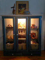Antique Glass Display Cases- Set of Two
