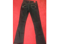 Designer Echo Red, size small, Denim Dark Blue Jeans