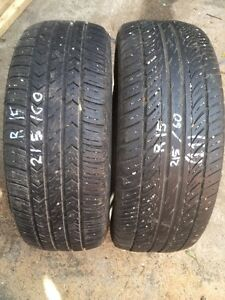 2 tires different brands and sizes