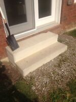 Hollow cement step free must pick up