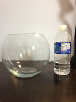 Clear glass candy jar - fish bowl - 8 inch