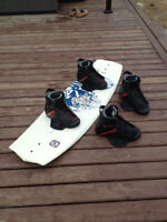 Wake board and two pair of boots