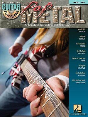 Pop Metal Sheet Music Guitar Play-Along Book and CD NEW 000699731
