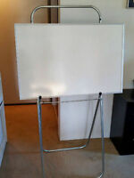 Portable Dry Erase White Board and Chalk Board Easel