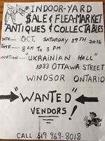 INDOOR FLEA MARKET THIS SATURDAY